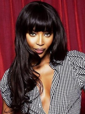 "Naomi Campbell 20"" India Remy Hair Wavy Celebrity Wig"