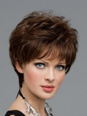 Comfortable Human Hair Wavy Capless Wig